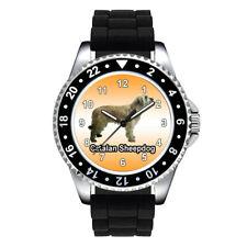 Catalan Sheepdog Dog Breed Unisex Mens Ladies Silicone Band Wrist Watch Se765