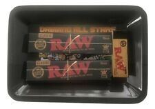 Raw King Size Classic Black Rolling Papers Tray Bundle Kit Raw Tips All Stars