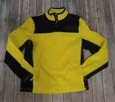 Napapijri Vintage Fleece Jacket Men's Small Sherpa half Zip Pull Over YELLOW BLK