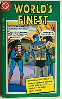 WORLD'S FINEST Batman Superman (1978) DC Comics Tempo B&W paperback 1st FINE