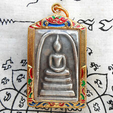 Thai Amulet Pendant Powerful Phra Somdej Beauty Case Life Protect Talisman GIFT