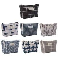 Travel Cosmetic Makeup Bag Organizer Storage Canvas Bag Toiletry Case Wash Pouch