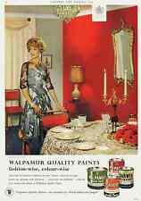 Interior design.Advert.Walpamur.Painting.Decorating.Furniture.Fashion.1963.Retro