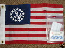 YACHTING BOAT FLAG DELUX SEWN US YACHT ENSIGN  32-8124 16X24 BOATING MARINE FLAG