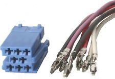 Vw Renault Blaupunkt Becker Etc Iso Mini Blue Plug 8 Pin Connector With Wires