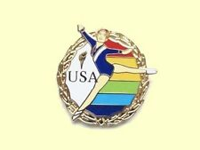 Usa Floor Champion Gymnastics Lapel Pin - Grace & Power!