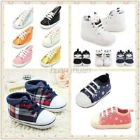 0-18M Newborn Kids Baby Boys Girl Canvas Lacing Shoes Toddler Anti Slip Sneakers