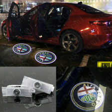 2x Car LED Door Logo Projector Puddle Lights HD For Alfa Romeo Giulia 2017-2020