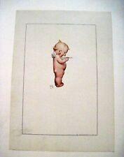 """Vintage Print of """"Kewpie"""" by """"Rose O'Neill"""" w/ Kewpie Eating Spoon of Ice Cream*"""
