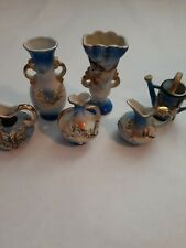 Dragonware - Blue, Gold - Miniature - Set Of 6