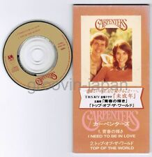 "CARPENTERS I Need To Be In Love /Top Of The JAPAN 3""CD PODM-1060 Free S&H/P&P"