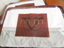 Frette NEW YORK UPTOWN BORDO KING Pillow Shams PAIR 2 GREY / LEAD ITALY - NEW!