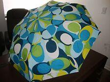 New Coach Signature Umbrella NWT Blue Rare Limited Edition Authentic Green White