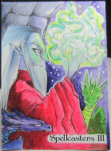 Perna Studios Spellcasters III 3 1/1 Sketch Card - Vanessa Bettencourt