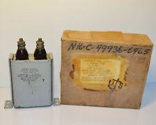 1 NOS Vintage Paper Oil Capacitor GE 4UF 4MFD 600VDC CAT. 26F111