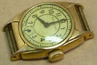 Gents vintage art nouveau early Westclox wrist watch, plated, for repair.