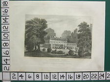 1830 ANTIQUE PRINT STAFFORDSHIRE ~ TRENTHAM HALL SEAT OF THE MARQUIS OF STAFFORD