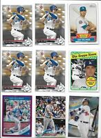 Cody Bellinger Dodgers Rookie Lot of (9) Bowman Topps Update Future Stars Mint