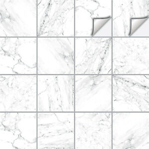 Marble Tile Stickers Transfers Kitchen Bathroom Various Sizes - M10