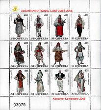 Albania Stamps 2006 - Albanian national folk costumes - Set Sheet MNH