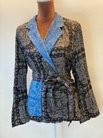 ZARA Crossover Printed Blouse  Jacket With Pockets Bloggers Size M