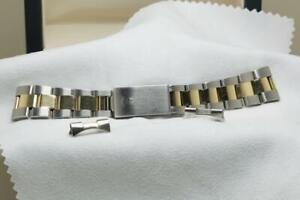 Genuine Bi Metal Rolex Oyster 34mm Bracelet Ref 78353 19 with 457 End Links 19mm