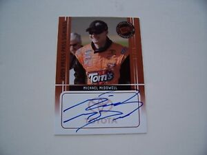 2009 PRESS PASS RACING SIGNINGS MICHAEL McDOWELL AUTOGRAPH INSERT CARD #ed!