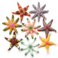 8 pcs Colourful Starfish Star Sea Life Figurine Aquarium Decor Educational Toy