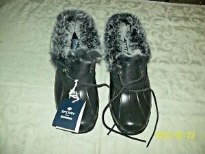 SPERRY Top Sider Saltwater 1 Eye Shoes Water Resistant Women's 8 M Black NIB