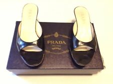 Adorable Prada Black Leather Slides With Original Box Size 37.5