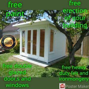 Summerhouse.  . garden room 10x8  ERECTED FOR FREE