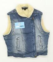 Topshop Womens Size 8 Denim Blue Lightweight Jacket
