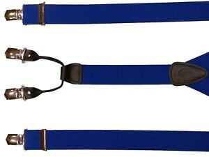 NEU-Y-Rollzug-Hosenträger 36mm mit 4 Clips in vielen Farben auch in Überlänge!