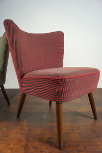 50er Retro Cocktail Sessel Vintage Easy Lounge Chair Mid-Century Clubsessel 2