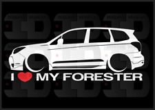 I Heart My Forester Sticker Love Subaru Slammed JDM Japan SJ XT Boxer Wagon 2.5