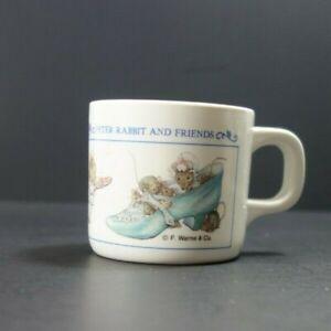 Vintage Peter Rabbit Beatrix Potter Melmac Melamine Baby Child Cup Eden 1991