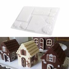 3D DIY Christmas Candy House Fondant Chocolate Mould Xmas Cake Cutter Mold Decor
