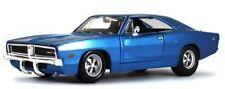 Voitures, camions et fourgons miniatures bleu en plastique cars