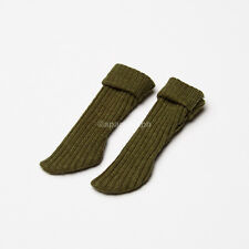 Neo Blythe, Licca, Azone Doll Outfits Clothes Socks 1 Pair - Dark Green