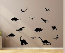 13 DINOSAUR Silhouettes Wall Stickers  T-Rex Stegosaurus Removable Jurassic Park