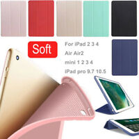 PU leather Silicone Smart Case iPad Back Cover Magnetic For Apple iPad Mini Air