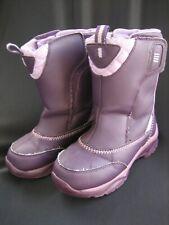 Lands End Girls Purple Boots w/Hook & Loop Closure Size 1 Med. Snow Boots Vinyl