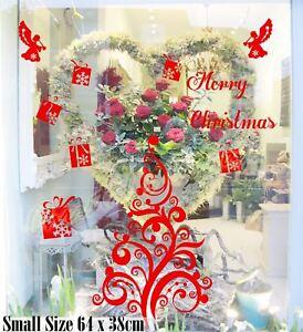 64cm Merry Christmas Tree Present Angel Shop Window Wall Art Decoration Sticker
