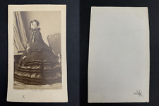 Disdéri, Paris, Eugénie de Montijo, impératrice CDV vintage albumen print.