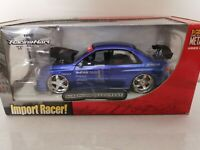 *NEW SEALED* Jada Import Racer Subaru Impreza WRX STI 1:24 Cast  Metallic Blue
