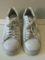 DIESEL White Leather Sneakers - Mens Size 45 EU / 12 US / 11 UK
