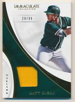 2017 Immaculate Collection Immaculate Swatches #62 Matt Olson Jersey /99