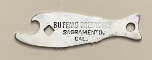 1910s Buffalo Brewing Sacramento California Fish Shaped Bottle Opener A-42-2B