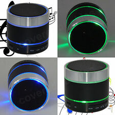 New! Wireless Bluetooth Portable Speaker for iPhone iPad MP3 + LED Light Dancing