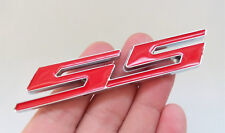 "New Red ""SS"" Side Fender Trunk Emblem Badge Decal For Chevy Impala Cobalt Camaro"
